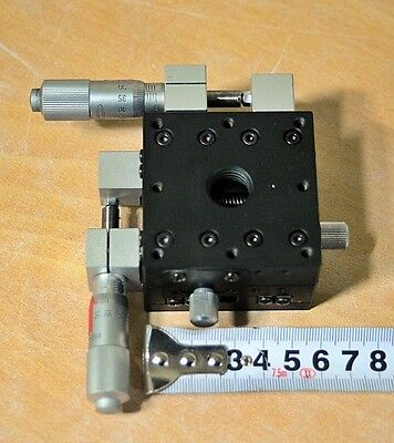 Chuo Seiki Stage Xy Positioner 60mm X 60mm X 40mm Free Ship