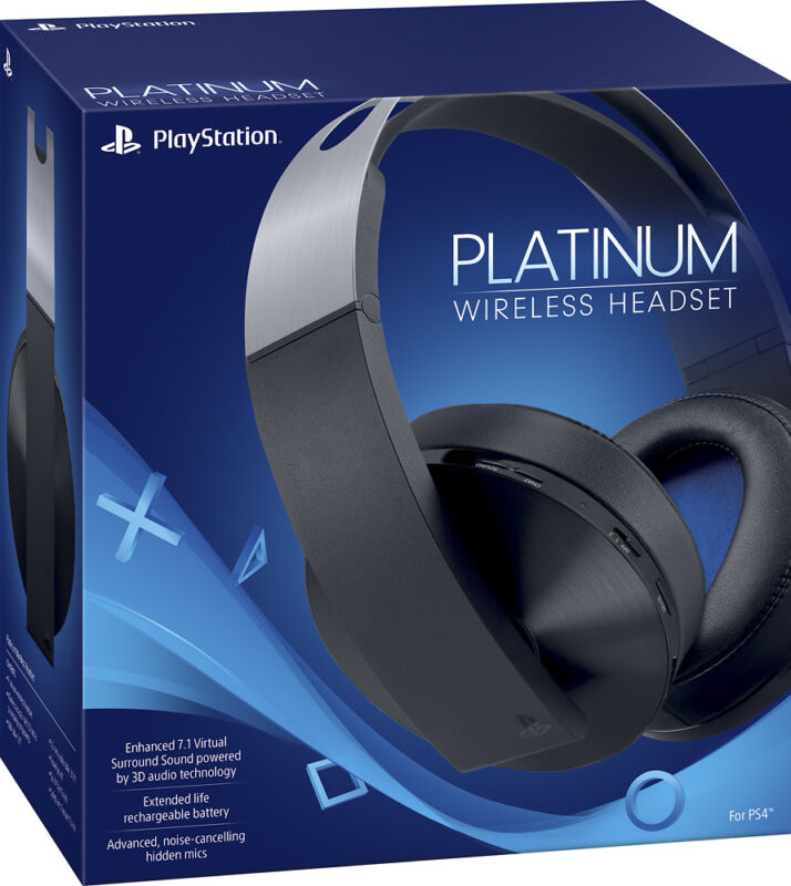 Sony Platinum Wireless 7.1 Surround Sound Gaming Headset For PlayStation 4 READ
