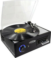 New - PYLE MULTIFUNCTION PORTABLE TURNTABLE with USB OUTPUT