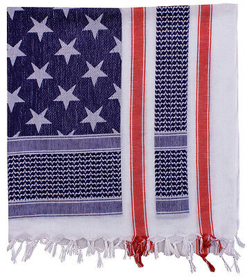 Stars & Stripes Scarf Shemagh Red White & Blue Neck Head Cover Keffiyeh US Flag
