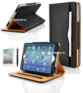 BLACK-TAN-stand-Smart-Magnetic-Leather-Case-Cover-for-Various-Apple-ipads
