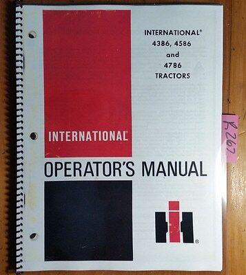 Ih International Harvester 4386 4586 4786 Tractor Owner Operator Manual R4 879