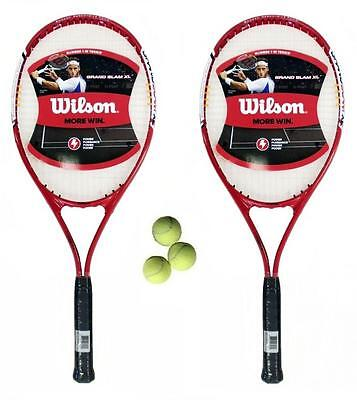 Wilson Grand Slam XL  2 x Tennis Racket Set + 3 Balls RRP £90