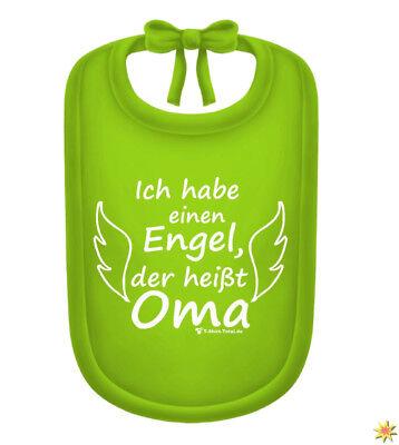 Baby Lätzchen grün mit Spruch Engel/ Oma Geschenk (Baby Oma Kostüm)