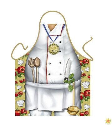 Kochschürze Chefkoch Grillmeister Geschenk für Gartenparty - Grillmeister Kostüm