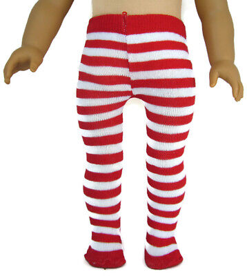 Red/White Striped Tights for 18