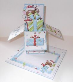 Merry Christmas mouse pop up box card