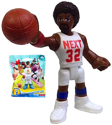 Imaginext NBA Basketball Player Very HTF Figure Series 4 Make a Team Retired Toy