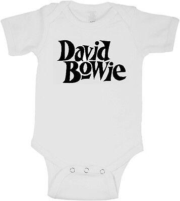 (David Bowie Baby Onesie Tshirt 0,3,6,9,12,18,24 Month Newborn Rock Music Concert)