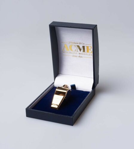 Acme Thunderer Whistle 60.5 Gold Plated with presentation Gift Box