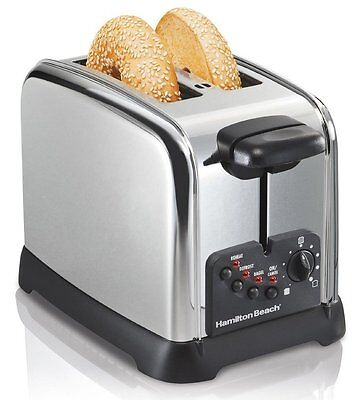 Hamilton Beach Classic Chrome 2 Slice Toaster, New, Free Shipping