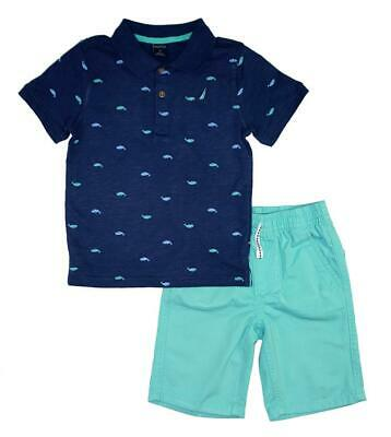 Nautica Boys Navy Polo 2pc Short Set Size 2T 3T 4T 4 5 6 7 8 10 12 Boys Navy Short Set