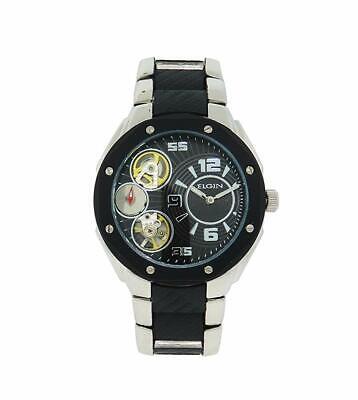 Elgin Man Automatic and Quartz, Silver-tone Sport Dress Watch, FG7083 Tone Dress Sport Watch