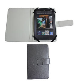"""Black Leather Case Cover Kindle Fire Galaxy P1000, Nexus, LG Asus 7"""" tablet"""
