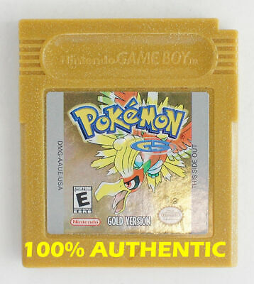 AUTHENTIC Pokemon Gold Version Save Properly New Battery Game Boy Color Game Boy Colored Battery