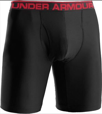 "NEW MENS UNDER ARMOUR ORIGINAL SERIES 9"" BOXERJOCK BOXER BRIEFS - SMALL - BLACK"