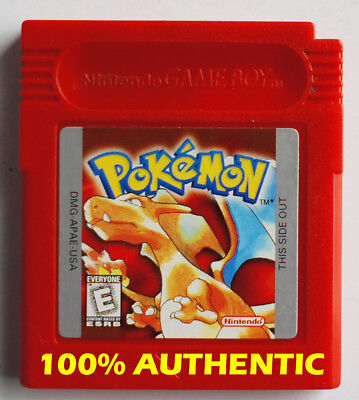 New Battery AUTHENTIC Pokemon Red Version Can Save Nintendo Game Boy Color