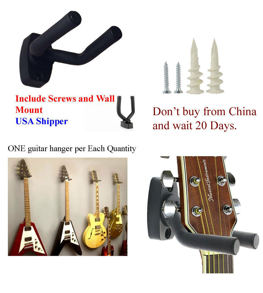 USA Guitar Hanger Stand Holder Wall Mount Display Acoustic Electric GRJ-Q1