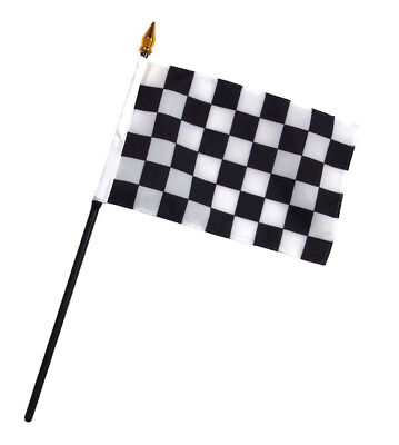 Black And White Table Settings (Black and White Checkered Racing Flag 4