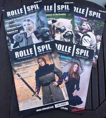 5 x ROLLESPIL #1 #2 #3 #4 #5 - Hvor fornuften giver op - larp magazines - NEW