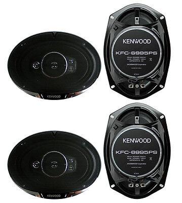 4  New Kenwood Kfc 6995Ps 6X9  1300 Watt 5 Way Car Audio Coaxial Speakers Stereo