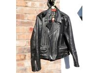 Men's Vintage 42 inch chest Motorcycle Jacket