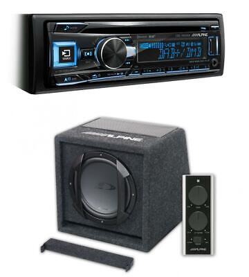 "Alpine CDE-196DAB Car Stereo CD DAB BT USB + SWE-815 8"" 20cm..."