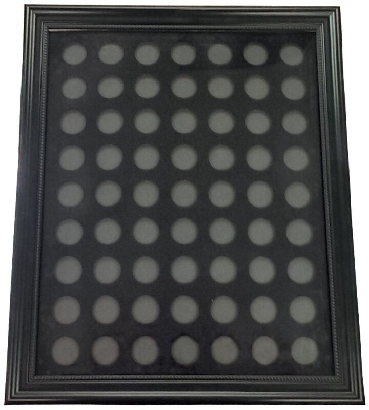Chip Insert 63 Casino Chips Display Board  with Frame 16 x 20 HOLDS 63 CHIPS *
