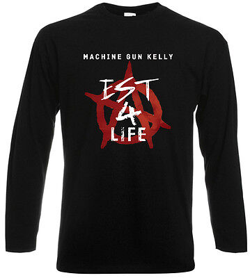 Machine Gun Kelly Mgk Est 4 Life Hip Hop Rap Long Sleeve Black T Shirt Sz S 3Xl