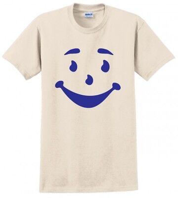 KOOL AID MAN FACE FUNNY GIFT HALLOWEEN COSTUME MENS ADULT TEE T-SHIRT - Kool Aid Costume
