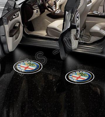 ALFA ROMEO CREE LED CAR LOGO GHOST SHADOW DOOR LIGHT LAMP 2 BULB HID - GSL151