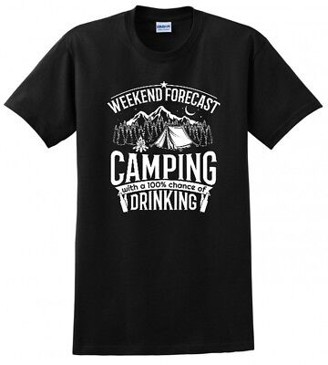 Weekend Forecast Camping With Drinking Camp Rv Mens Funny Tee T Shirt