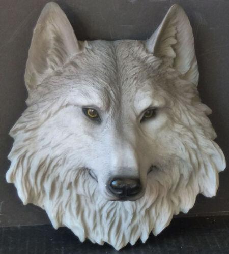 "WOLF TOTEM  Sm Wolf Head  Statue Figurine  H8.5"""