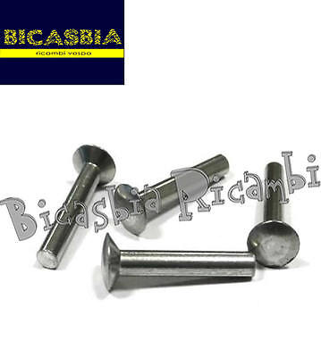 3027 Set 10 Pieces Rivet Footboard Strip 3,5 x 23 Vespa 125 ET3 Primavera 3 Piece Set Footboard