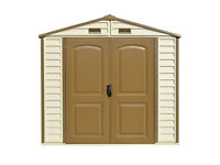 StoreAll 8 x 6 Vinyl Storage shed with Foundation Duramax