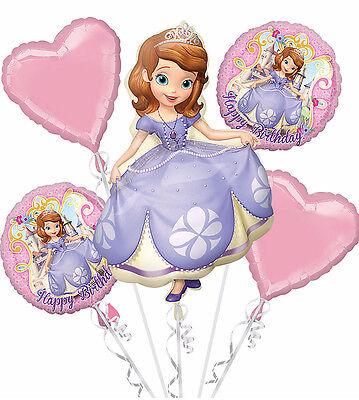 Disney SOFIA THE FIRST Happy Birthday Balloon Bouquet Party Decoration Supplies](First Birthday)
