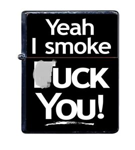 Funny-Adult-Metal-Lighter-refillable-NEW-funny-YEAH-I-SMOKE-FU