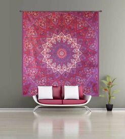Beautiful Red Star Mandala Wall Hanging Tapestry from Handicrunch