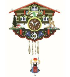 Kuckulino Black Forest Clock Swiss House with quartz movement a.. TU 2003 SQ NEW