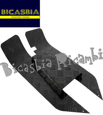 7835 - Set Foot Board in 3 Pieces Aluminum Black Vespa 50 125 Pk S XL N V Rush 3 Piece Set Footboard