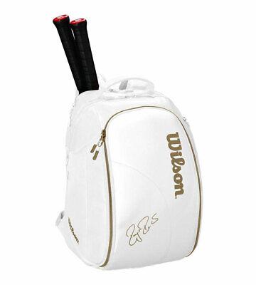 Wilson Federer DNA Tennis Backpack White Gym Badminton Squash WRZ800450