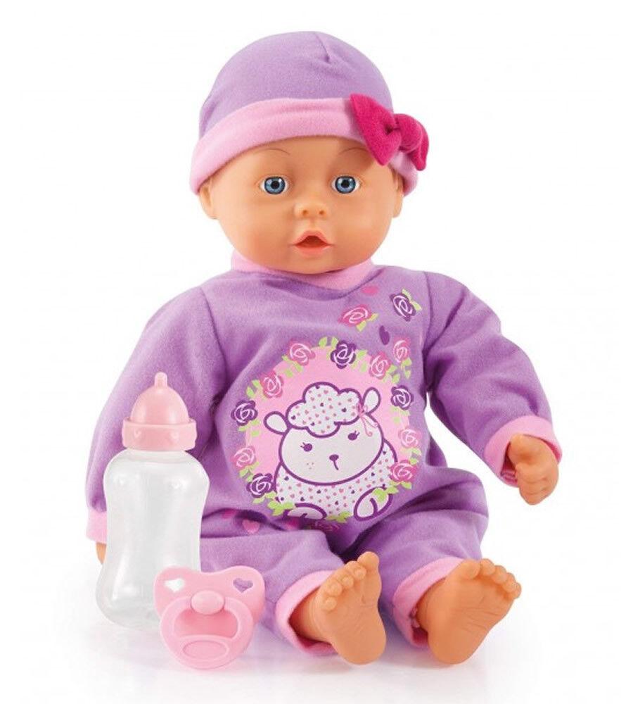 Bayer Design - Funktionspuppe First Words Baby mit 24 Lauten, 46 cm, lila