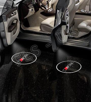 AUDI S LINE CREE LED CAR GHOST SHADOW DOOR LIGHT LAMP 2 BULB SET HID - GSL175