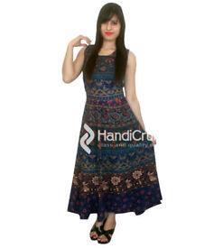 Cotton Mandala Printed Women Gowns from Handicrunch