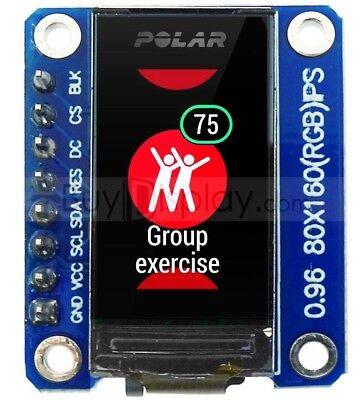 Serial Spi Tft 0.96 Inch Lcd Display Module 160x80 Ips St7735 Breakout Board