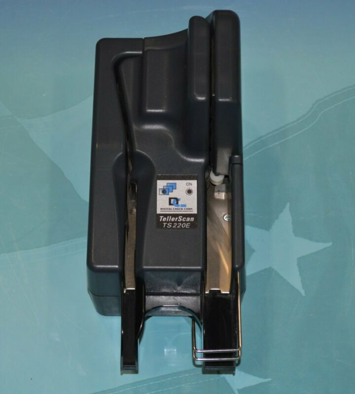 Digital Check TellerScan 220E (TS220E) Check Scanner NO AC Adapter