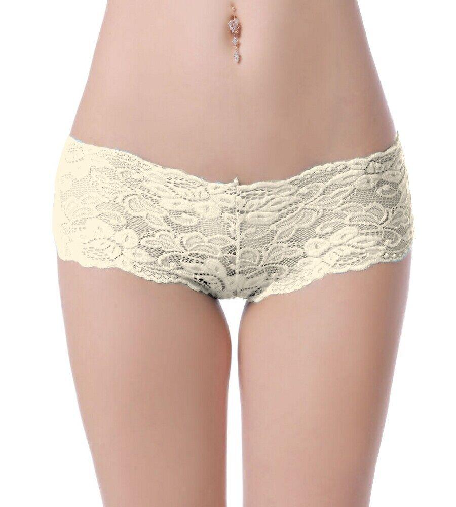 SeXy Damen Brazilian Panty Spitzen Unterhose Gogo Blumen Tanga Dessous S-XL