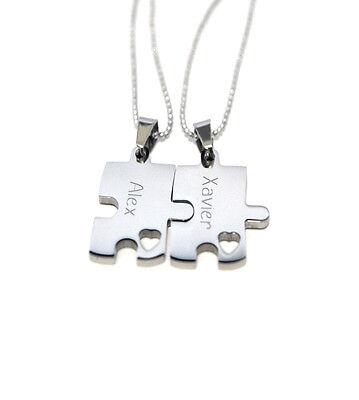 Puzzle Piece Necklace Set - Puzzle Piece Necklaces - Wedding - Bridal Party  (Puzzle Piece Necklace Set)
