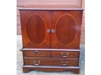 Cheap Brown antique wooden cabinet Normal condition in Milton Keynes