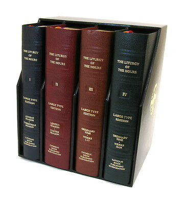 Liturgy of the Hours 4 Volume Set Large Print Catholic Book Publishing Co